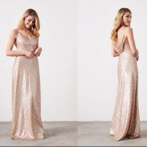Weddington Way Florence Gold Sequin Long Dress 2